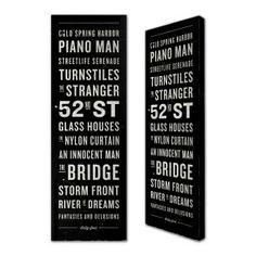 Billy Joel Subway Albums Canvas Print