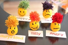 Emotional Stress Ball Balloons - for teaching emotions to ASD kids Teaching Emotions, Feelings And Emotions, Emotions Activities, Children Activities, Yellow Balloons, Emotional Stress, Emotional Development, Autistic Children, Diy Crafts For Kids