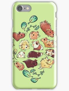 'Guinea Pig Diamond ' iPhone Case by Paigekotalik Hamsters, Rodents, Guinie Pig, Guinea Pig Clothes, Guinea Pig Accessories, Guinea Pig Bedding, Pet Guinea Pigs, Koi, Little Pigs