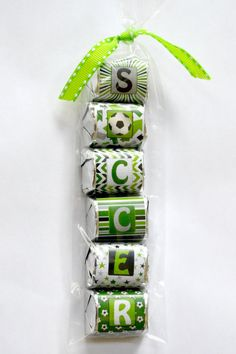 Soccer Nugget Party Favor by AmandaCreation on Etsy
