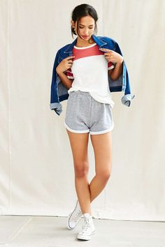 Urban Renewal Recycled Fleece Roll Short - Urban Outfitters
