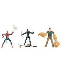 Spider-Man 3 Movie Action Figure Assortment  5in action figures from Spider-Man 3 movie. Each figure comes with its own accessory. Styles may var  http://www.comparestoreprices.co.uk/spiderman-toys-and-games/spider-man-3-movie-action-figure-assortment.asp