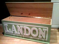 Custom Wooden Toy Box by BearMtnCarpentryCo on Etsy, $350.00