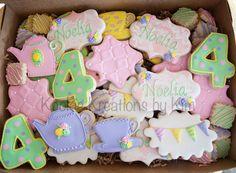 Tea party cookies - Kookie Kreations by Kim