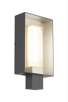 The Refuge Square LED outdoor light by Tech Lighting: Exudes clean contemporary styling while projecting a warm, multidimensional glow indoors or out. In Charcoal with a Satin Haze Finish.