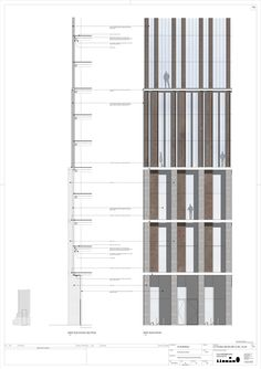 Image 5 of 11 from gallery of Stacked Residential Tower to Become One of Newcastle's Tallest Buildings West Elevation Envelope Detail Image © FaulknerBrowns Architects - architecture Architecture Graphics, Facade Architecture, Residential Architecture, Architecture Visualization, Tower Building, Building Facade, Building Design, Newcastle, Mall Facade