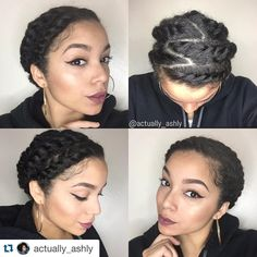 """#Repost @actually_ashly with @repostapp. ・・・ #ProtectiveStyle for the next few days. I've been obsessing over flat twists. ➰ so I did 8 flat twists and…"""