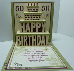 Pop Up Karte I Card, Pop Up, Elsa, Happy, Cards, Popup, Ser Feliz, Being Happy