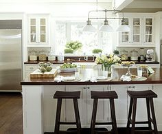 Classic elegance. More kitchen ideas: http://www.midwestliving.com/homes/decorating-ideas/kitchen-styles/