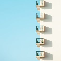 "Minimalist urban photography from the series ""Who want sky""."