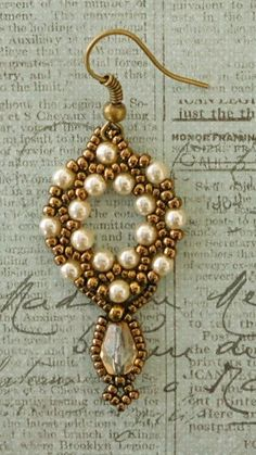 Linda's Crafty Inspirations: Arula Earrings Variation with Drop Beads