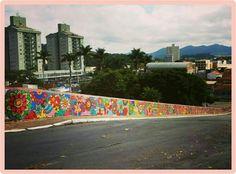 Arte de rua. Artista Giovanna Brandão.