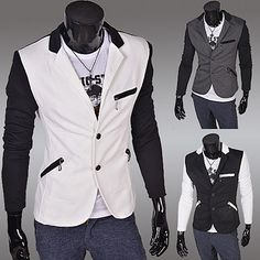 Cheap patchwork bedding, Buy Quality patchwork carpet directly from China patchwork pattern Suppliers: Casual Long-Sleeve Slim Blazer Outwear jacket Korean Men Mascuino men suit white Blue Yellow High Qu Blazer Suit, Blazer Jacket, Korean Men, Blazers For Men, Blazer Buttons, Mens Suits, Coats For Women, Black And Grey, Mens Fashion