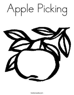 Apple Picking Coloring Page - Twisty Noodle