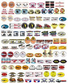 Castrol letras individuales carrera de coches Rally Moto Calcomanías Stickers 2 Off 280mm