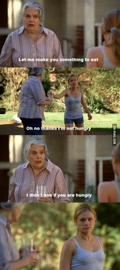 Haha you gotta love grandmas, especially Gran! True Blood season 1. Funny scene; loved it!