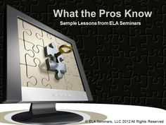 What the Pros Know is a Power Point containing three sample English Language Arts lessons from a series of Power Points that will contain 10 writing exercises. These lessons will be accompanied by Common Core State Standards, lesson objectives, and tips from professional writers. More info: http://www.youtube.com/watch?v=05zY8iS9jOE=plcp (free download)
