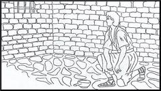 Joseph In Prison Coloring Page Biblelessonsforkids