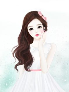 Cute girl cartoon group with items Cute Girl Drawing, Cartoon Girl Drawing, Cartoon Drawings, Cute Drawings, Cartoon Images, Anime Korea, Korean Anime, Girls Manga, Girly M