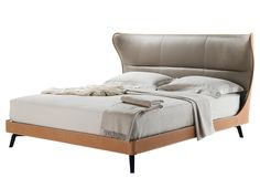 Mamy Blue Bed by Roberto Lazzeroni for Poltrona Frau