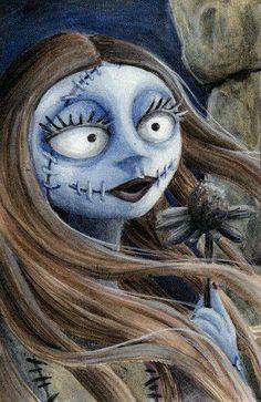 *Sally ~ The Nightmare Before Christmas, 1993 Tim Burton Style, Tim Burton Art, Arte Disney, Disney Art, Coraline, Halloween Town, Happy Halloween, Jack Und Sally, Nightmare Before Christmas Drawings