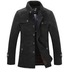 New winter dress home men wool coat & jackets Jacques overcoat male trench