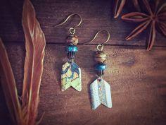 Wanderlust Earrings Arrow Earrings with by MusingTreeStudios