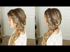 Braided Side Swept Prom Hairstyle | Missy Sue - YouTube