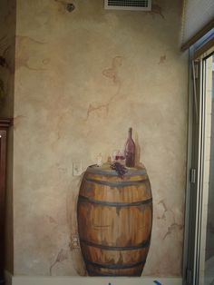 Mom's mural...who doesn't love wine?