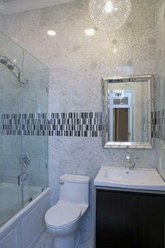 Master Bathroom Renovation Carrera Marble