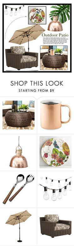 """Outdoor Patio🌿"" by doragutierrez ❤ liked on Polyvore featuring interior, interiors, interior design, home, home decor, interior decorating, Pottery Barn, Williams-Sonoma, Pier 1 Imports and Loria"