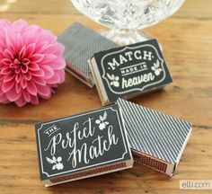 Free Printable Chalkboard Matchbox Favor Labels