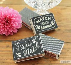 Printable Chalkboard Matchbox Favor Labels - Ellinée journal | DIY Blog