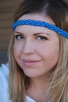 Blue Braided Headband