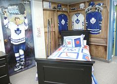 hockey locker room bedroom theme