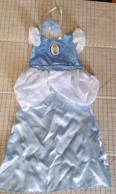 Cinderella Disney Classics Halloween Costume Wand Tiara Girls S 4 6 Authentic #Disney #CompleteOutfit