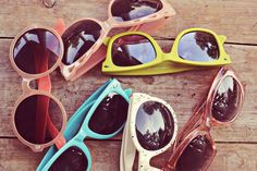 I love colorful glasses...