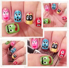 Yes MOM they have YO GABBA GABBA  Nail Art- woah #nail #nails #nailart