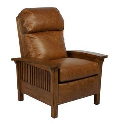 The Barcalounger Craftsman II Pushback Recliner features mission styling in combination with luxurious comfort and top grain leather. This piece features