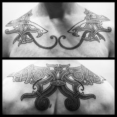 Celtic/Nordic torc. Freehanded, to compenste for slightly uneven shoulders. #dotwork #dotworktattoo #blackwork #blackmatter #blackworkerssubmission #btattooing #imageoftheday #tattoo #norse #nordicart #nordicwyrm #nordicblack #nordicdesign #celtic #celtictattoo #torc #viking #vikings #vikingtattoo