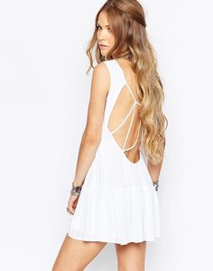 Glamorous Festival Dress With Cage Back Detail - Cream #moda #style #sales