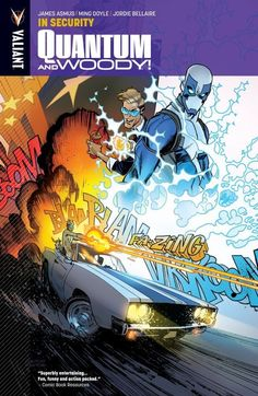"""Quantum and Woody Volume 2: In Security, Beautiful art, smart scripting and guaranteed smirk-per-page fun, it is your patriotic duty to pick up """"In Security."""",  #AlexMansfield #All-Comic #JamesAsmus #JordieBellaire #MingDoyle #QuantumandWoody #review #Valiant #ValiantComics #ValiantEntertainment"""