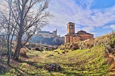 La Vera Cruz y el Alcázar - Vista de Segovia desde el camino a Zamarramala