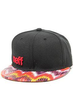 4315b33b5c0 Neff Hat Daily Printed Brim Rainbow Zig in Black