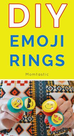Fun DIY Emoji Rings