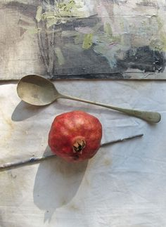 Pomegranat still life from Heather Moore's blog