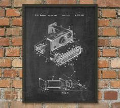Polaroid Camera Patent Wall Art Poster by QuantumPrints on Etsy