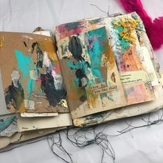 I love seeing the layers of the pages before and after in my messy junk journal (I have two like this available for purchase DM if interested) Day of Sketchbook Pages, Art Journal Pages, Junk Journal, Art Journals, Graffiti, Messy Art, A Level Art, Visual Diary, Gcse Art