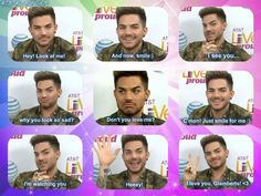 Adam and his faces <3