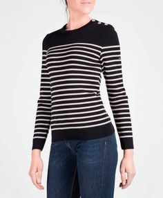 Saint Ii Maree Striped James® Breton Sweater Women For fZqSfrH